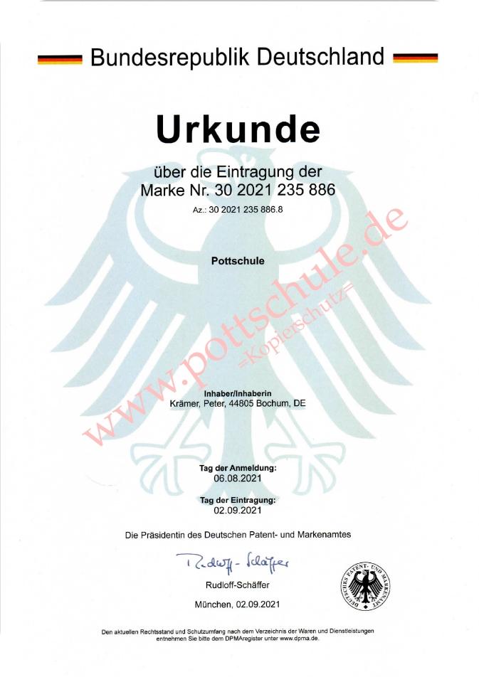 Pottschule - eingetragene Marke