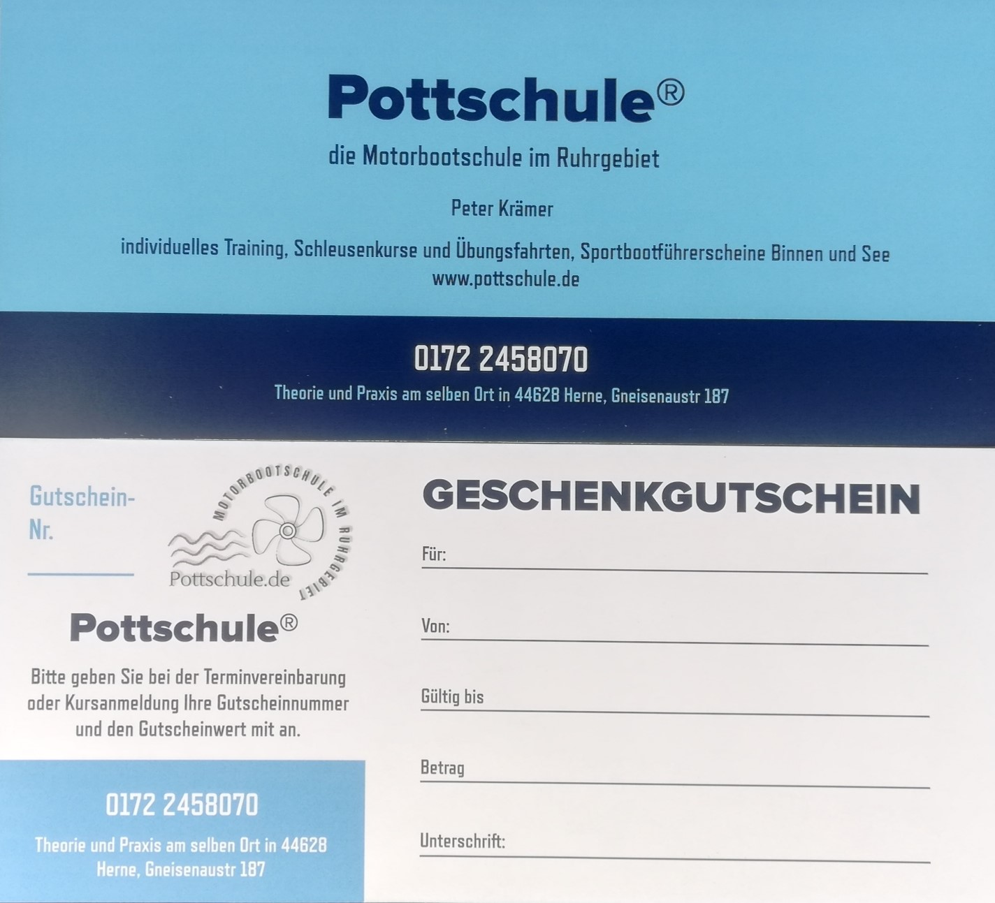 Gutschein-Pottschule